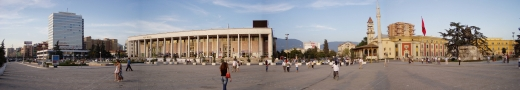 Tirana: Skenderbeg Square in the heart of the capital