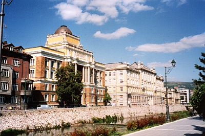 The Habsburg influenced Sarajevo along the river