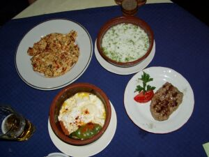 Typical Bulgarian Meal