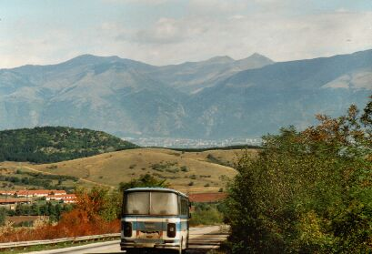Entering the Valley of Roses - with the Stara Planina in the back
