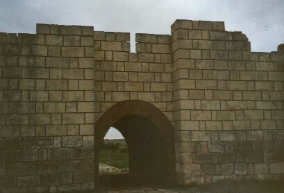 Restored gate in Bulgaria's first capital, Pliska