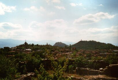 View from the Eumolpias ruins to the centre of Plovdiv
