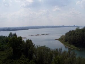 A view from the bridge to the Danube and Ruse
