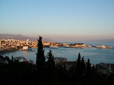 View of Split and the port