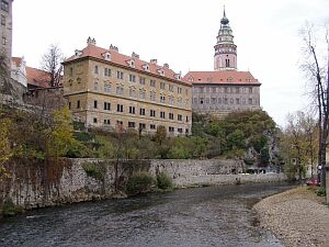 Castle tower and Vltava (Moldau)