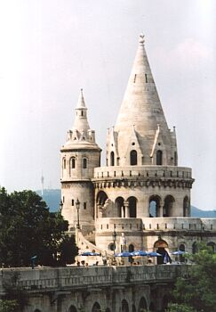 Budapest: The famous Fishermen's Bastion on Castle Hill