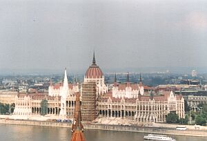 Budapest: The large Hungarian Parliament