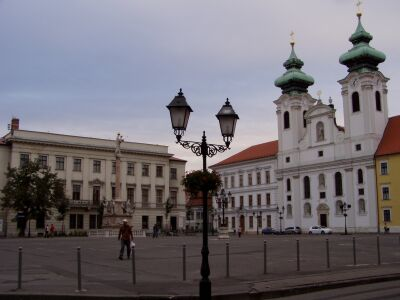The central square Széchenyi tér in Győr