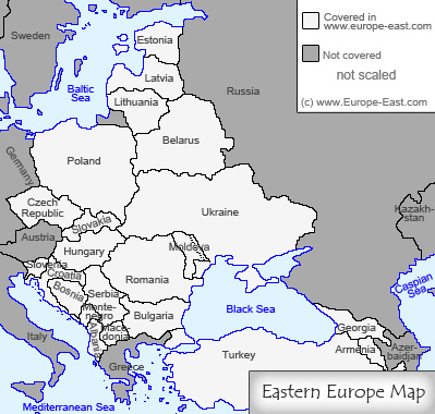 Europe East Map Noeyesneed - Map of eastern europe