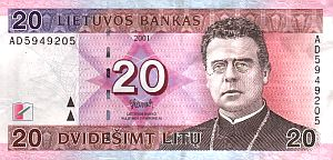 20 Lithuanian Litu bill