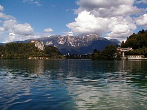 Beautiful Lake Bled and the Alps