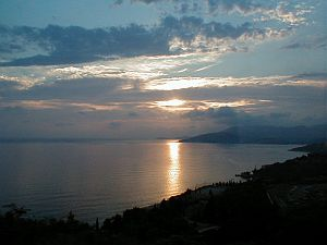 Sundown at the Dalmatian coast